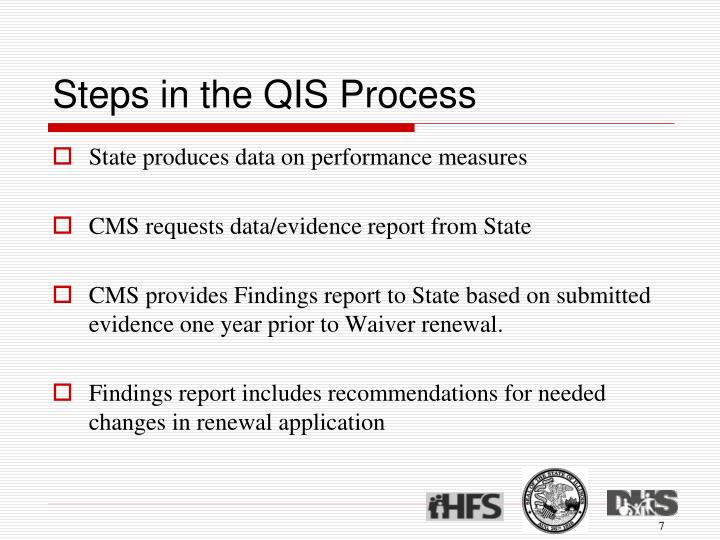 Steps in the QIS Process