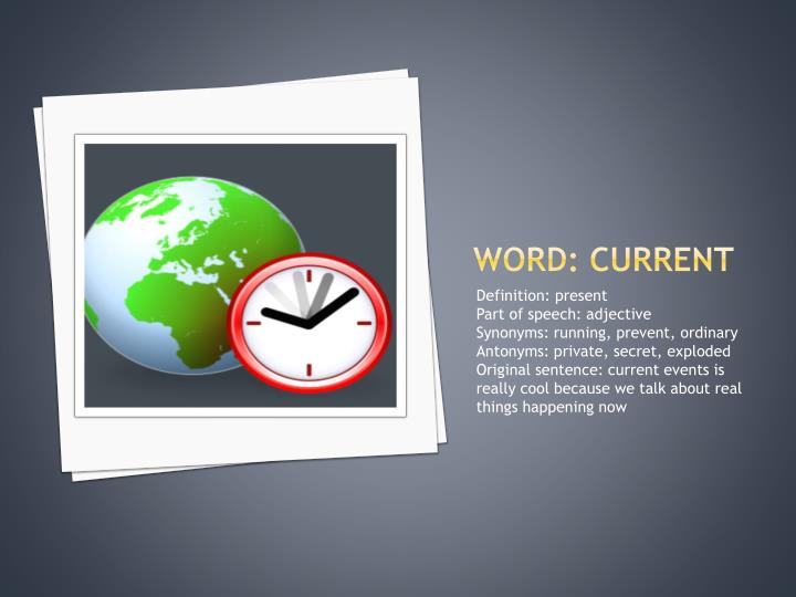 Word: current