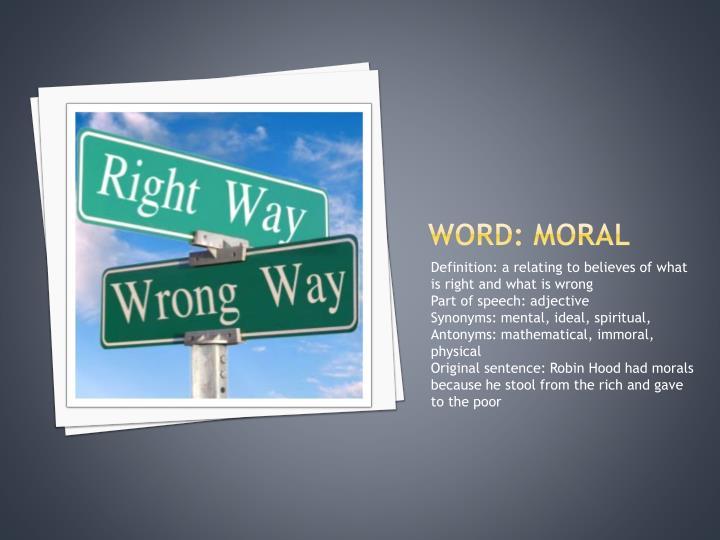 Word: moral