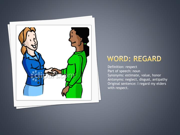 Word: regard