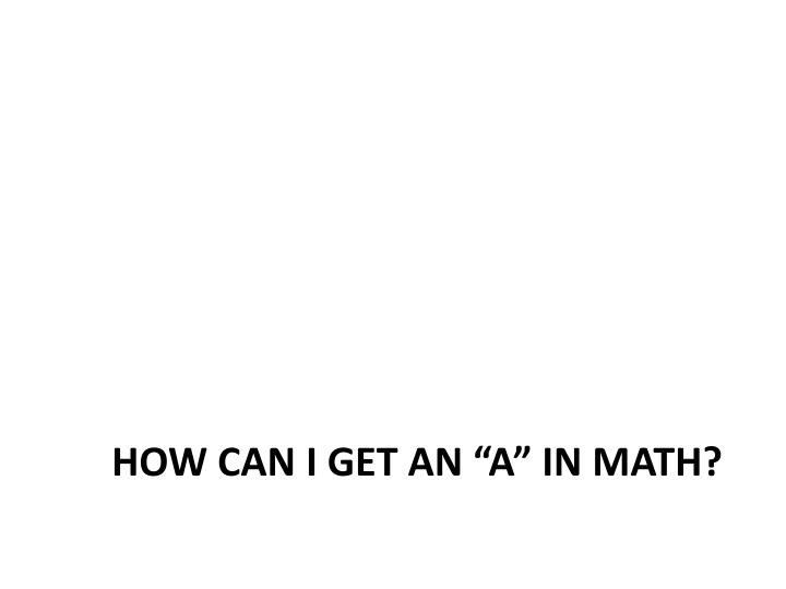 """How can I get an """"a"""" in math?"""