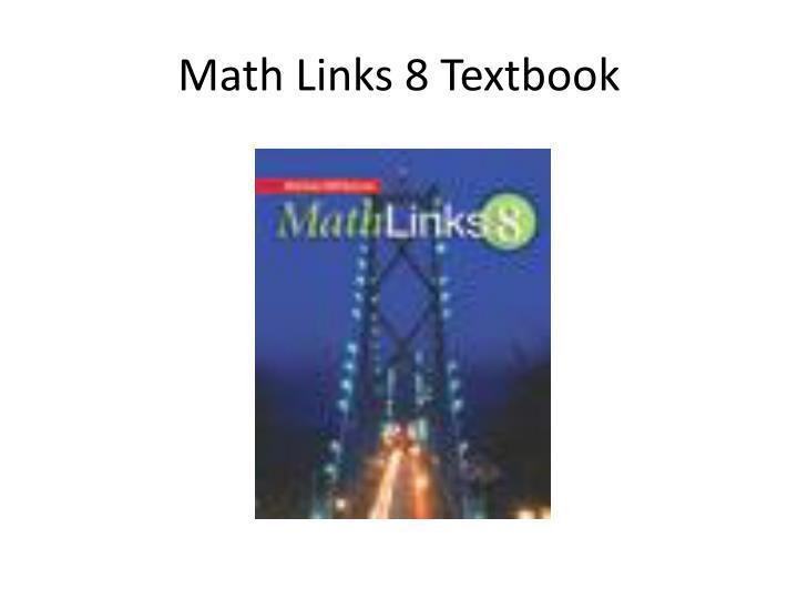 Math Links 8 Textbook