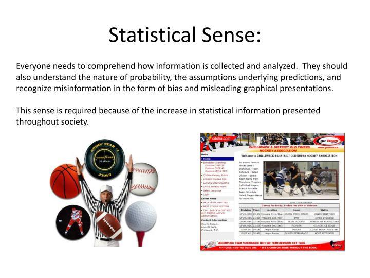 Statistical Sense:
