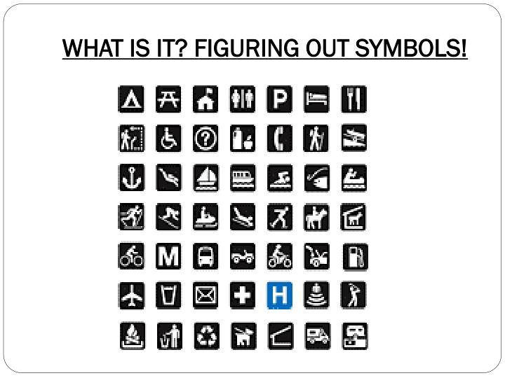 WHAT IS IT? FIGURING OUT SYMBOLS!