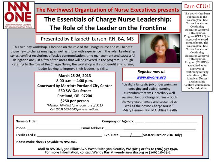 PPT - The Essentials of Charge Nurse Leadership: The Role of the ...