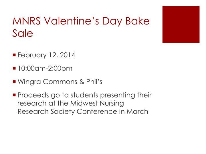 MNRS Valentine's Day Bake Sale