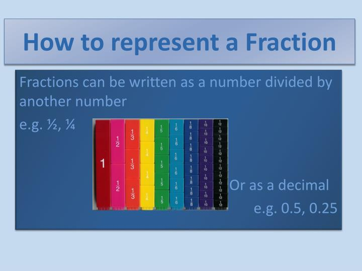 How to represent a Fraction