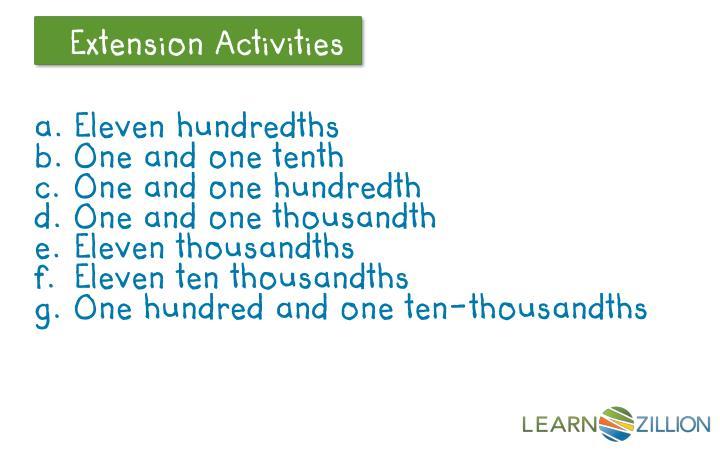 Eleven hundredths