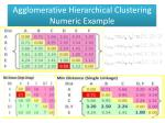 agglomerative hierarchical clustering numeric example5