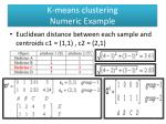 k means clustering numeric example3