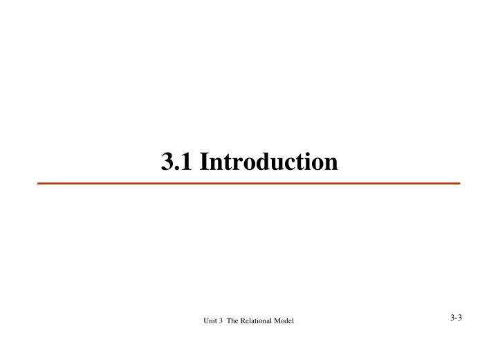 3.1 Introduction