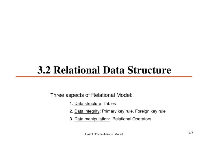 3.2 Relational Data Structure