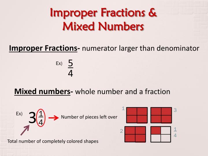 Improper Fractions &