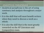analytical paraphrase1