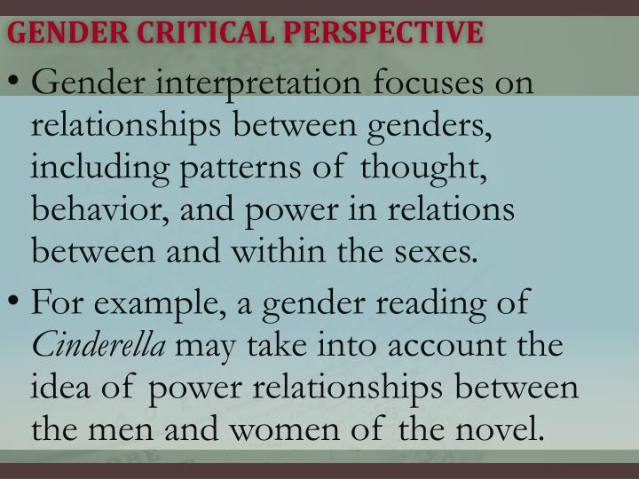 Gender Critical Perspective