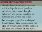 gender critical perspective