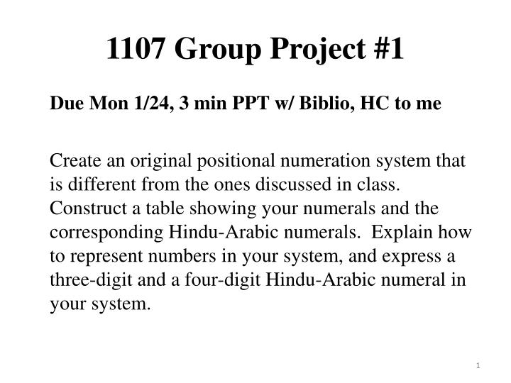 1107 group project 1