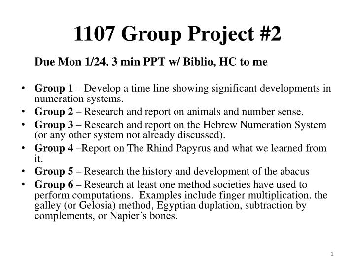 1107 group project 2