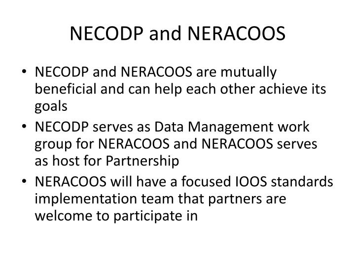 NECODP and NERACOOS