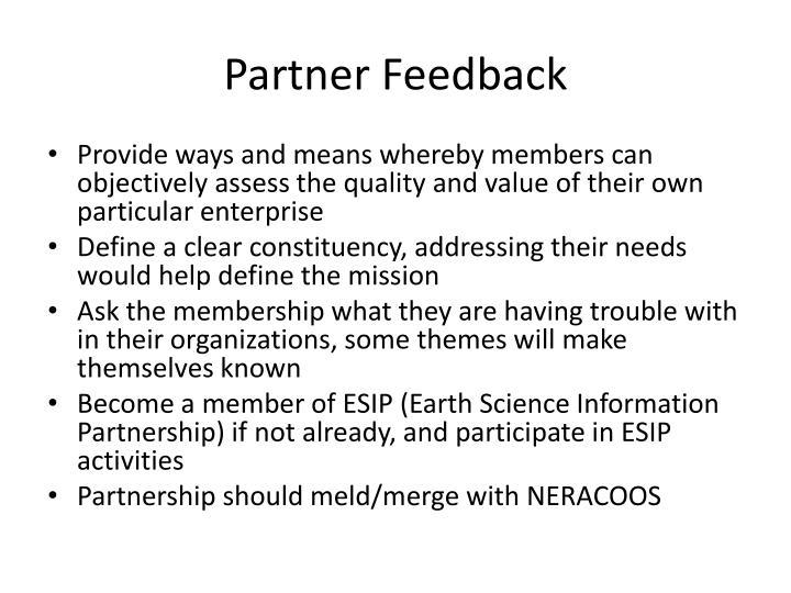 Partner Feedback