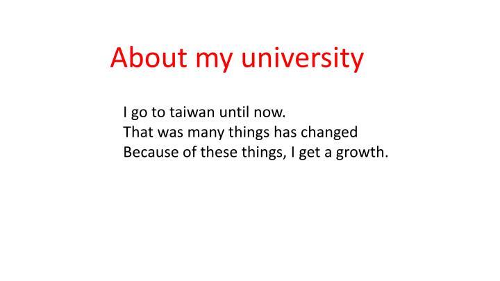 About my university