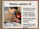 phonics consists of