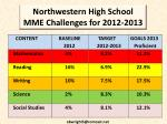 northwestern high school mme challenges for 2012 2013
