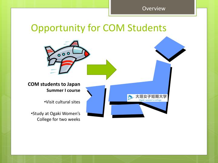 Opportunity for com students