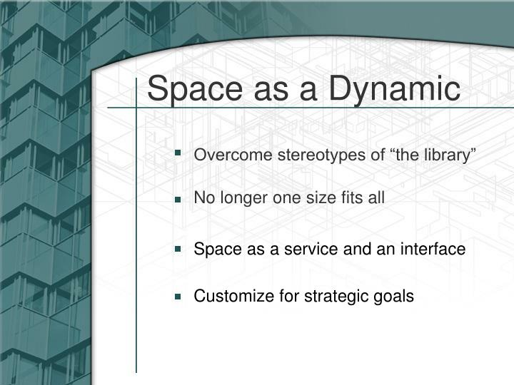 Space as a Dynamic