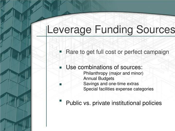 Leverage Funding Sources