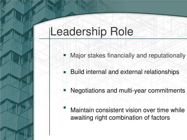 Leadership Role
