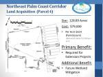northeast palm coast corridor land acquisition parcel 4