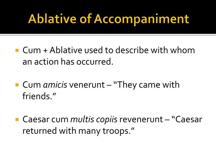Ablative of Accompaniment