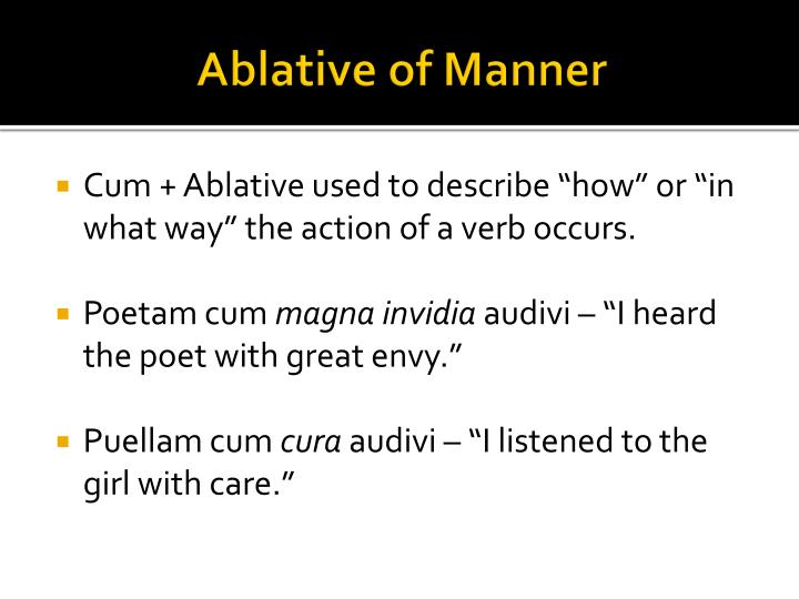 Ablative of Manner