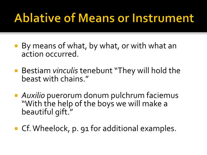 Ablative of Means or Instrument