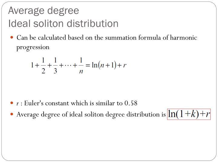 Average degree