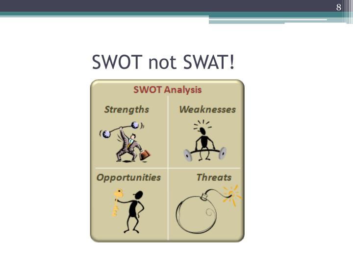 SWOT not SWAT!