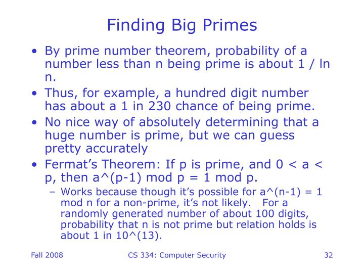 Finding Big Primes
