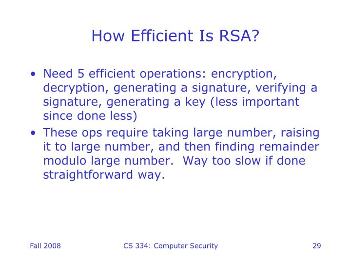 How Efficient Is RSA?