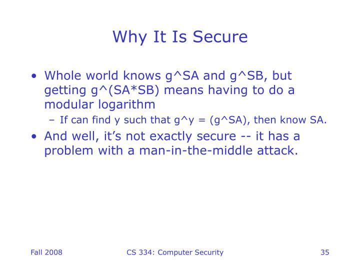 Why It Is Secure