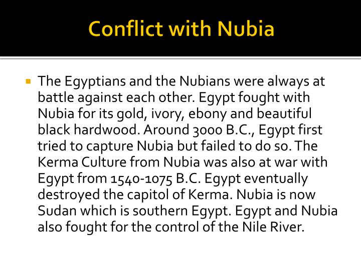 Conflict with Nubia