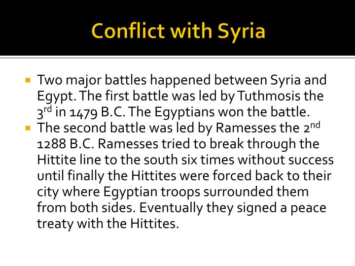 Conflict with Syria