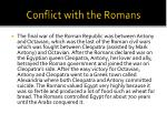 conflict with the romans