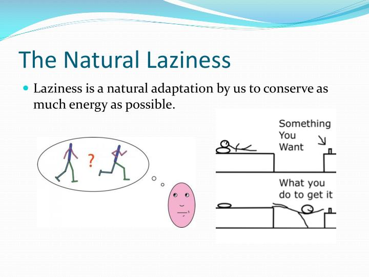 The Natural Laziness
