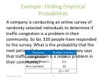 example finding empirical probabilities