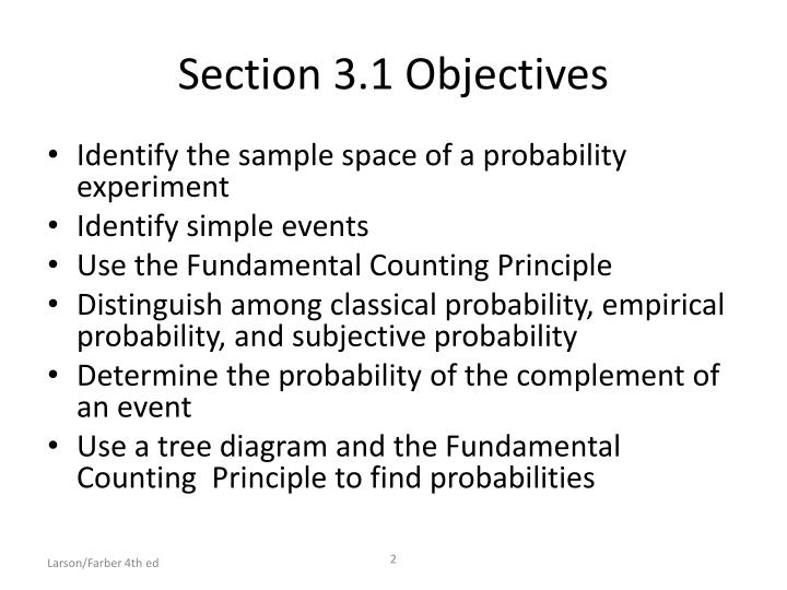 Section 3.1 Objectives