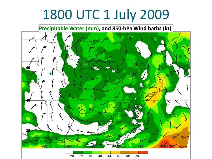 1800 UTC 1 July 2009