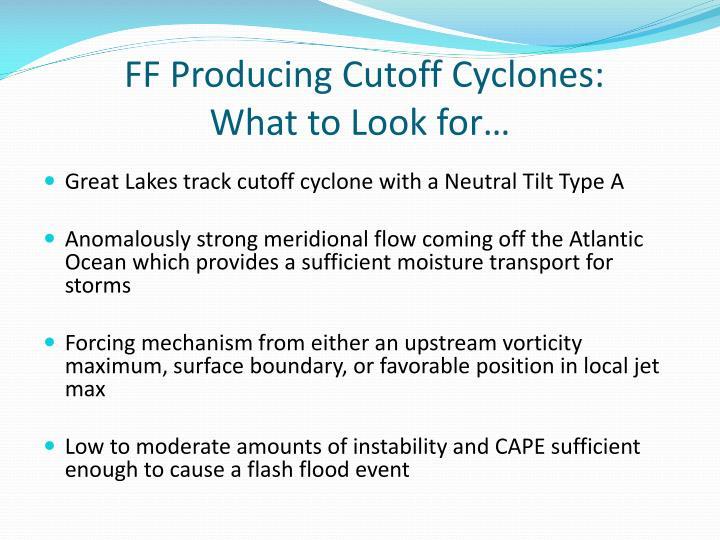 FF Producing Cutoff Cyclones: