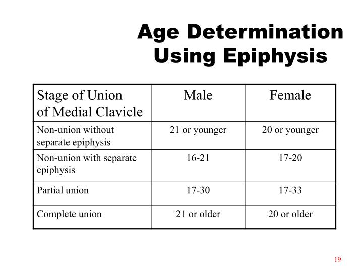 Age Determination Using Epiphysis