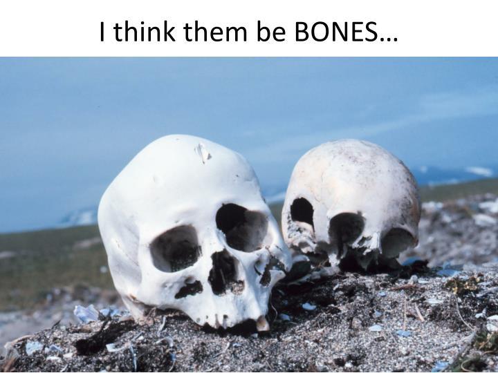 I think them be BONES…